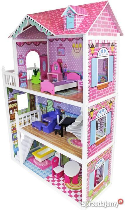 7b8eb68b8ba7 Ogromny drewniany domek dla lalek Barbie - 124 cm Warszawa ...