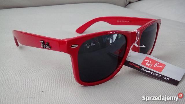 78470bf4d80f74 Okulary Ray Ban Wayfarer 2140 Czerwone Gdańsk - Sprzedajemy.pl