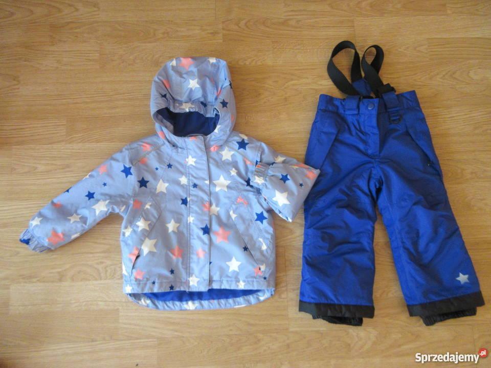 8ae76ffb3a7b20 Kurtka i spodnie narciarskie dziewczynki 86 92 niebieski wielkopolskie  Słupca