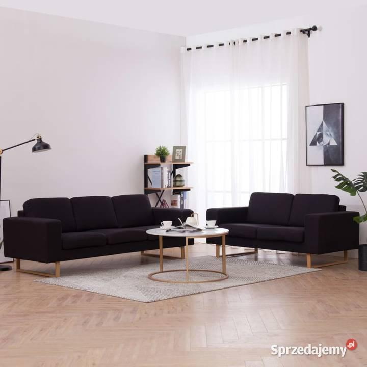 vidaXL Zestaw 2 sof tapicerowanych tkaniną276863