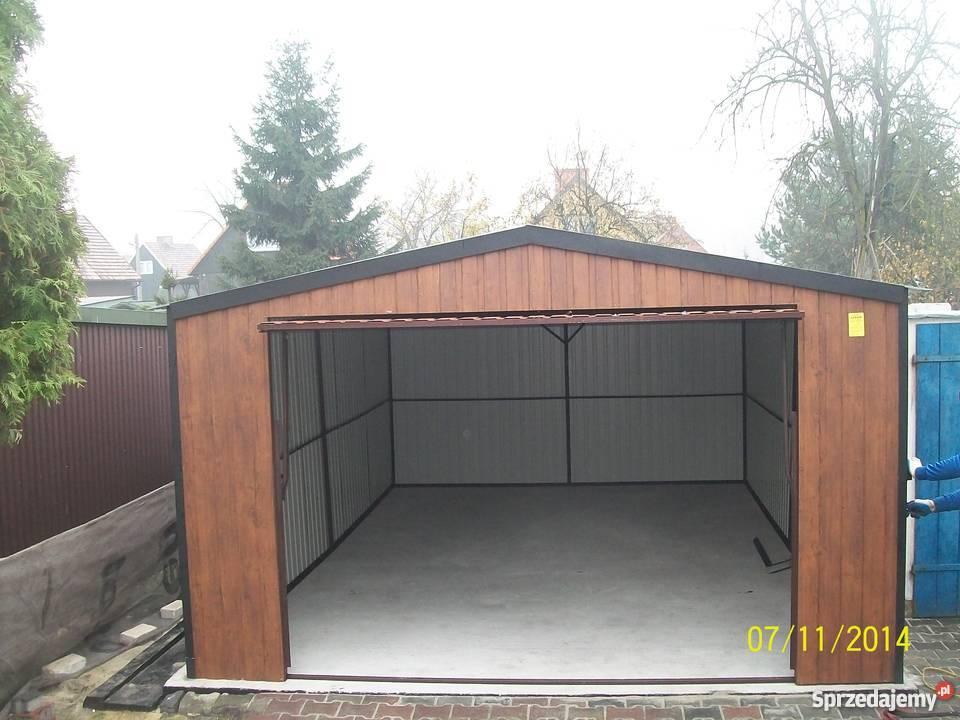 garaż blaszany 6x4 4x6 orzech złoty dąb Limanowa sprzedam