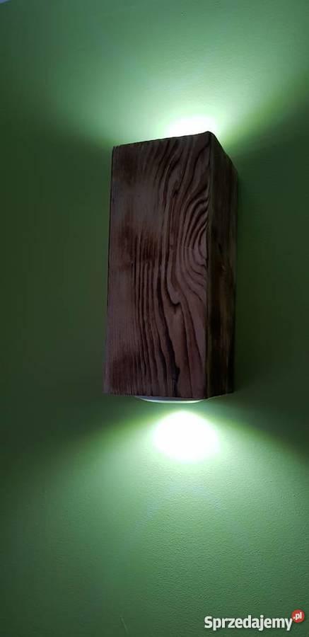 Kinkiet belka drewniana LED VINTAGE LOFT Dom i Ogród Szczecin