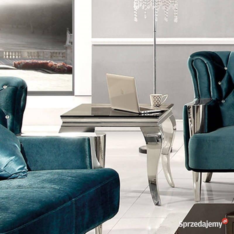 Stolik Ludwik 45 blat kamienny stół ława stylowy glamour