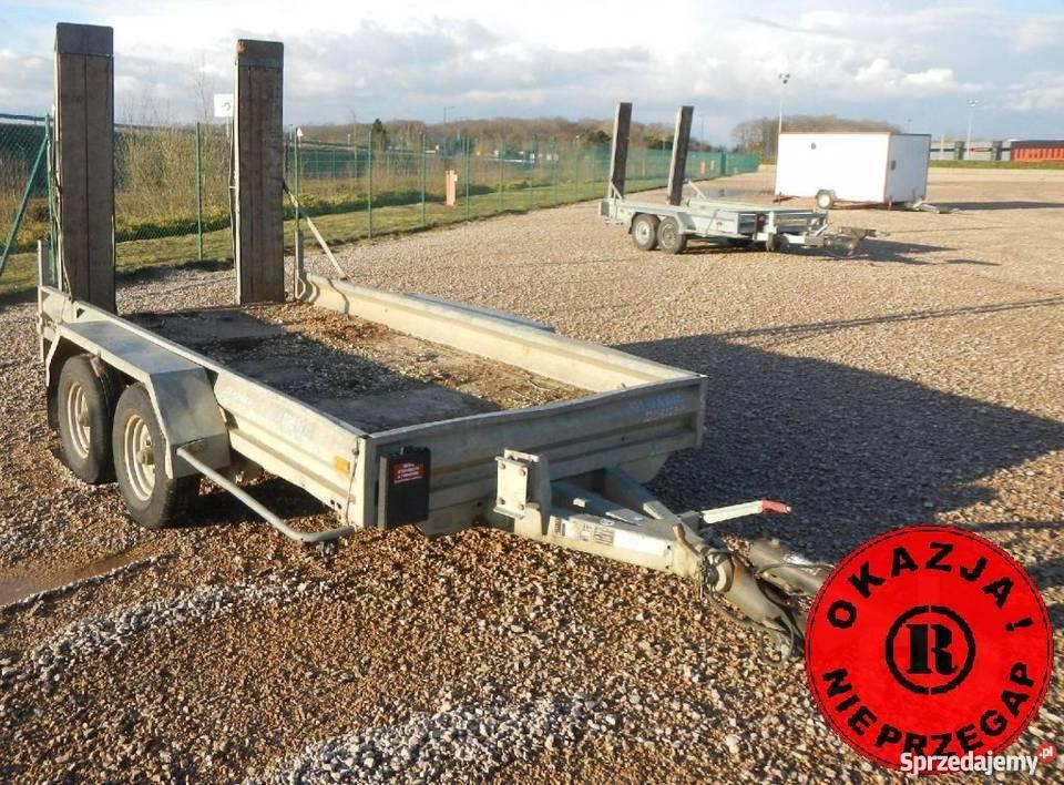 Hubiere Przyczepa 3,5 tony dwuosiowa DMC 3500 kg najazdy 2,8