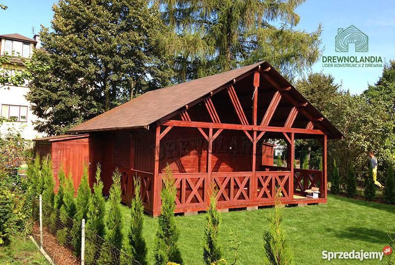 domek letniskowy ogrodowy altana 35 dom drewna zachodniopomorskie Szczecin