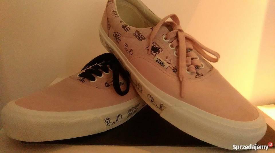Buty VANS różowe limitowane Brain Dead typu Sneakers trampki