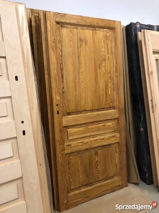 Drzwi postarzane ręki rustykalne ryflowane Grzybno sprzedam