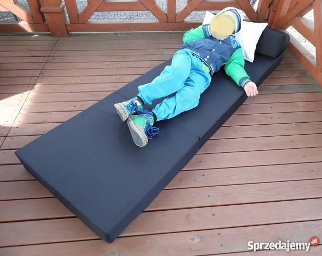 Materac składany rozkładany fotel łóżko na OGRÓD Pecna