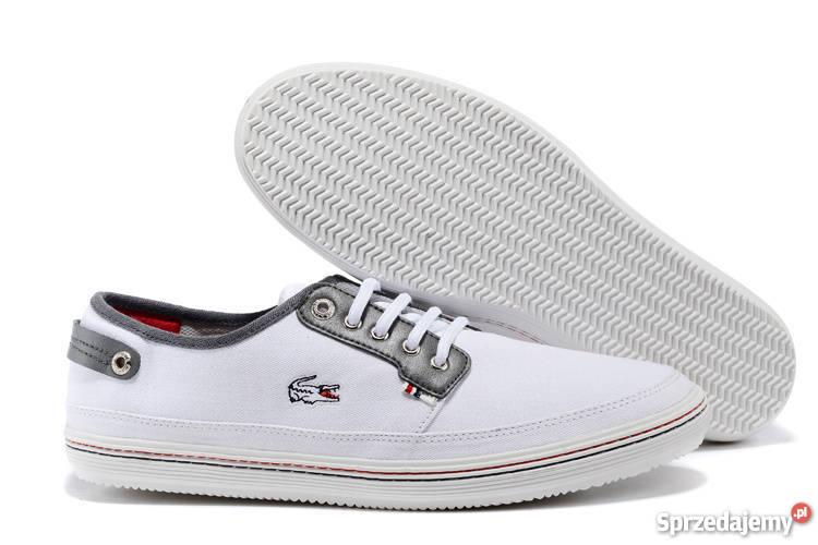 pierwsza stawka nowy produkt Data wydania: Lacoste buty męskie białe tampki rozmiar 39-45