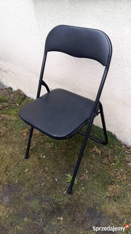 Krzesło Jysk Składane Czarne Do Naprawy Lub Na Części 044 Kościan