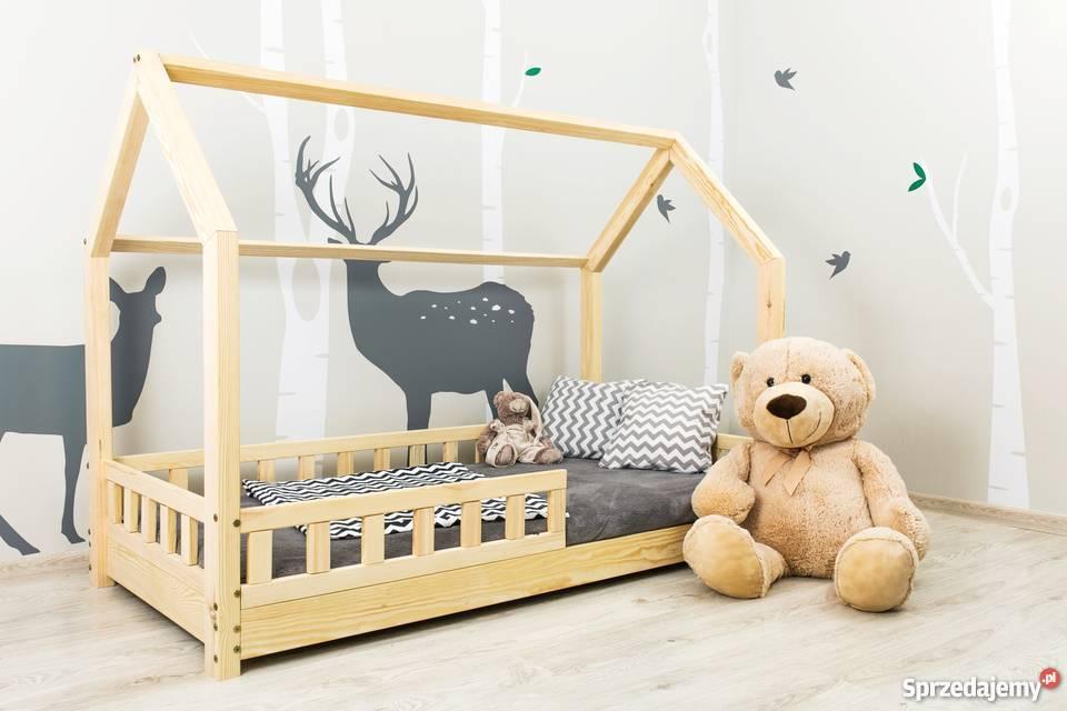 Łóżko dzieci Domek z barierkami ochronnymi Sklep Meble