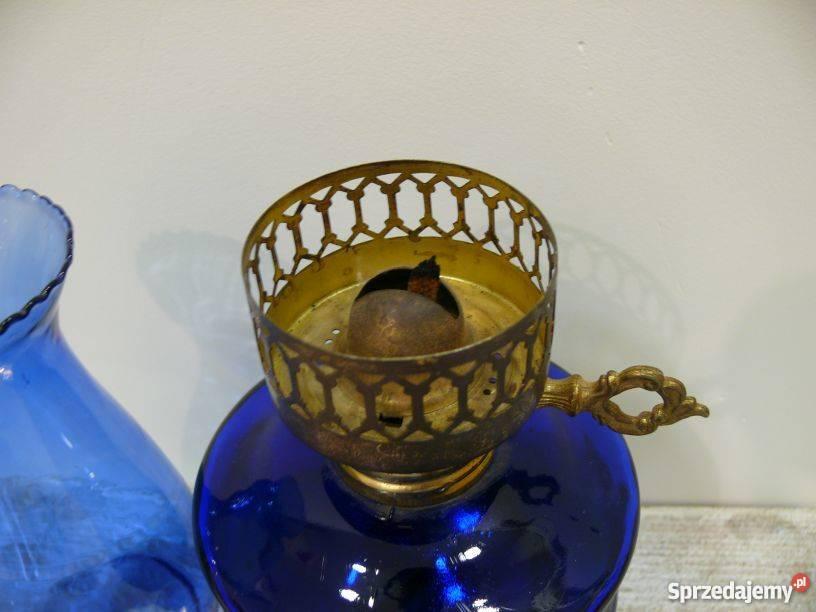 Lampa naftowa stylizowana kobaltowa mazowieckie Warszawa sprzedam