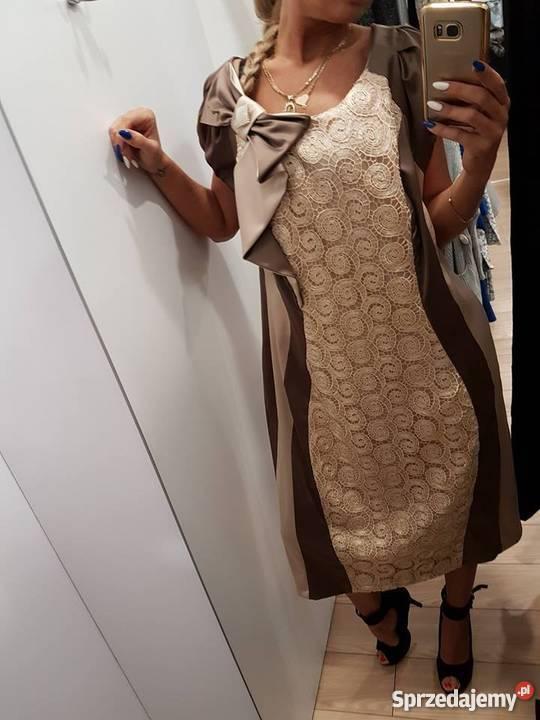8566cf4644 Sukienka na wesele duży rozmiar 48 Chorzów - Sprzedajemy.pl