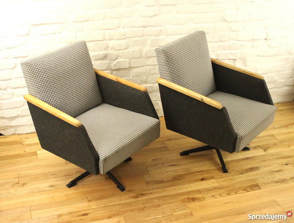 Sprzedam Fotele Fotel Obrotowy Prl Lata 506070 Po Renowacji 2szt