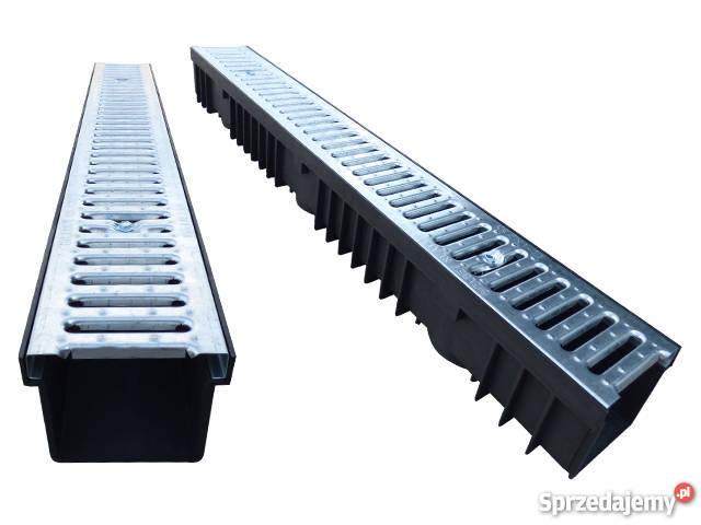 Odwodnienie Liniowe Kanał Z Tworzywa Pokrywa Ocynk 105mm Włocławek