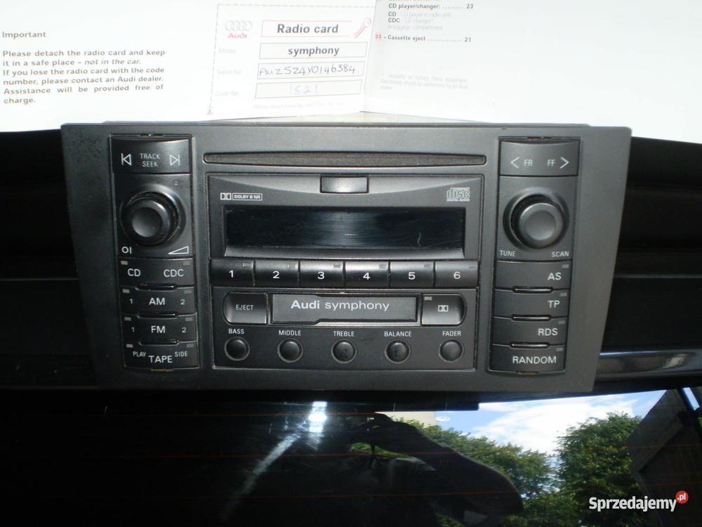 Radio samochodowe do AUDI A4 A3A6 dolnośląskie Bystrzyca Kłodzka