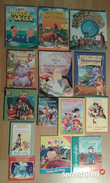 kolekcja książek dla dzieci bajki, wiersze, lektury
