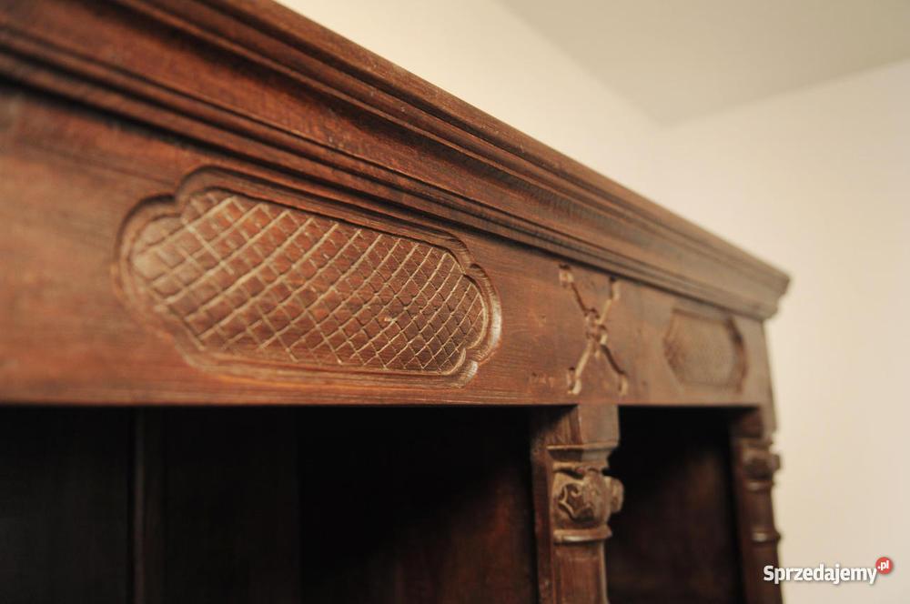 meble kolonialne indyjskie komoda i biblioteczka