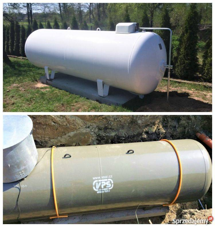 Chwalebne 2700, 4850 zbiornik na gaz propan, butla gazu, gazowa MONTAŻ LG91