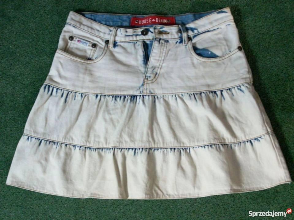 84b6edd2 House Denim Spódnica Dżinsowa Haft Falbanki Jeans 38 40