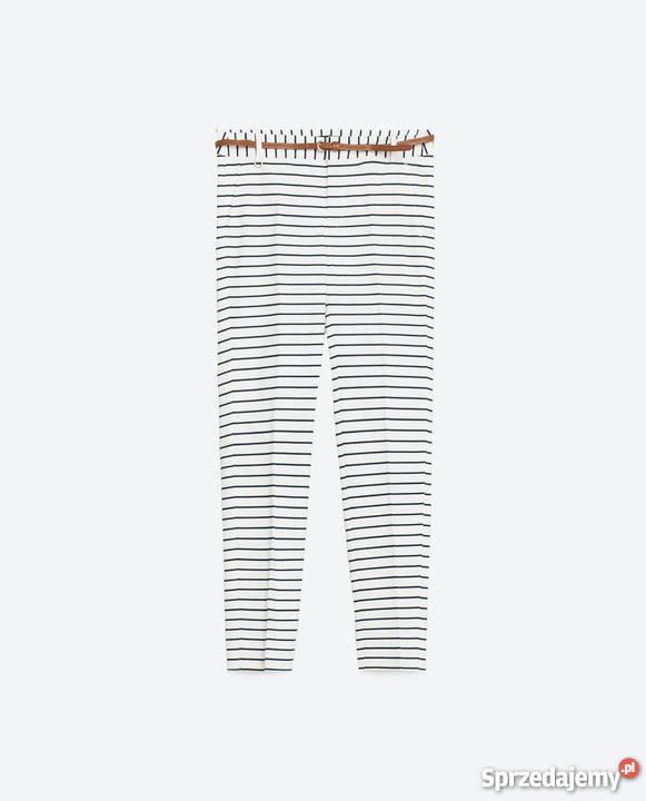 ZARA Spodnie w prążki paski w marynarskie paski 38