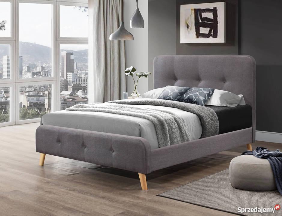 łóżko Tapicerowane Szare Sy 157 140x200 Cm