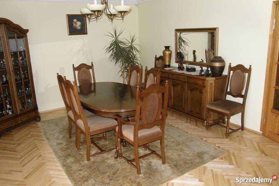 Stół Dębowy Z Krzesłami Ciechanów Sprzedajemypl