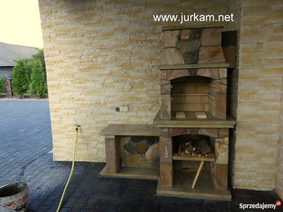 Inteligentny Kominek OGRODOWY Grill z Kamienia Naturalnego Limanowa AJ99