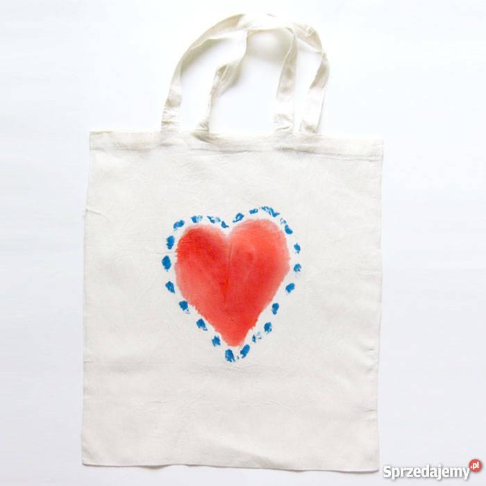 2c5f12725c73b bawełnianana torba z sercem
