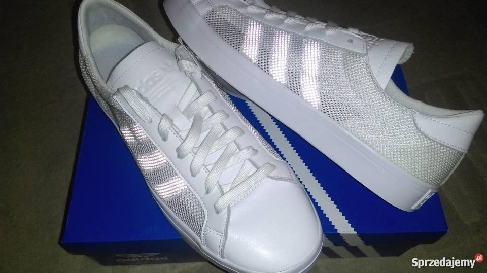 Adidas Court Vantage r 45 29 przewiewne z boku biały