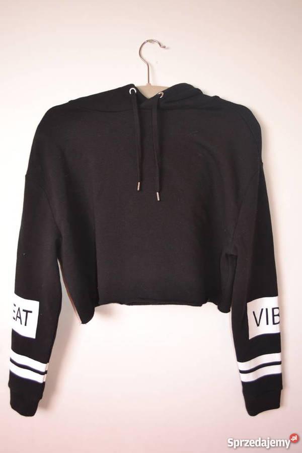 Czarna krótka bluza z H&M. Warszawa Sprzedajemy.pl