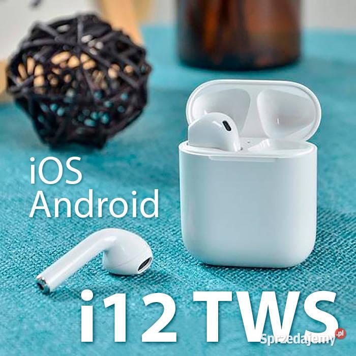i12 TWS nowe słuchawki dotykowe bezprzewodowe bluetooth 5.0