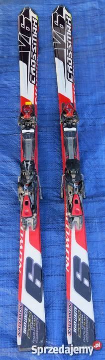 NARTY ZJAZDOWE SALOMON CROSSMAX V6 DŁUGOŚĆ 175 cm