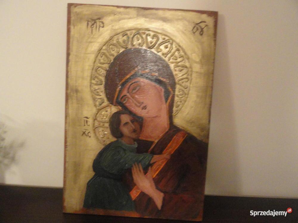Ikona Obraz Jezus Chrystus Matka Boska Archanioł Malarstwo Wejherowo
