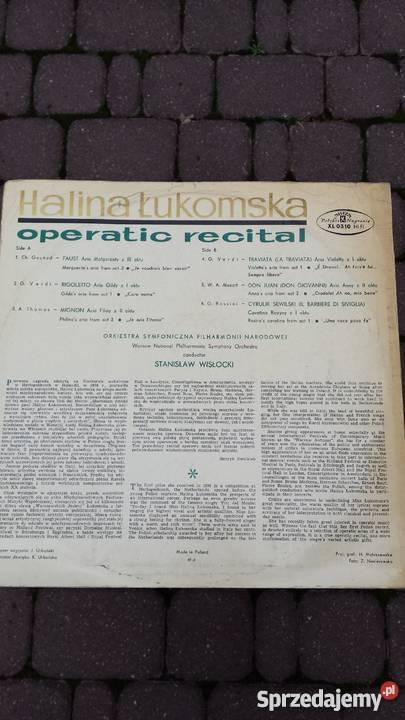 Płyta winylowa Halina ŁukomskaOperatic Recital mazowieckie Warszawa