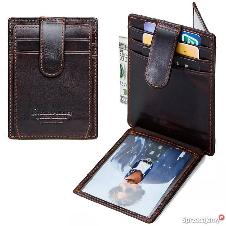 9f8469f0d215c Skórzany portfel męski ContactS SLIM RFID STOP Czeladź - Sprzedajemy.pl