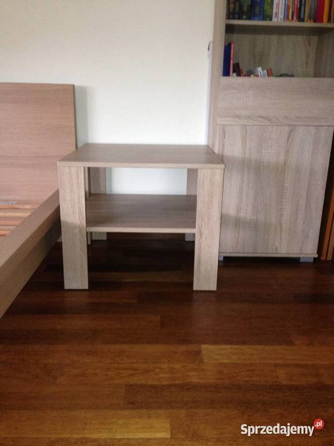 Stolik kawowy kwadratowy dąb sonoma 60x60 z półką nowy