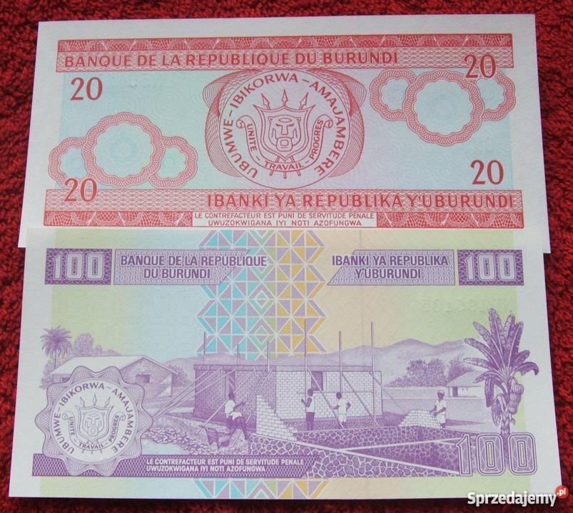 BURUNDI Kolekcjonerskie Banknoty Zestaw 2 sztuki