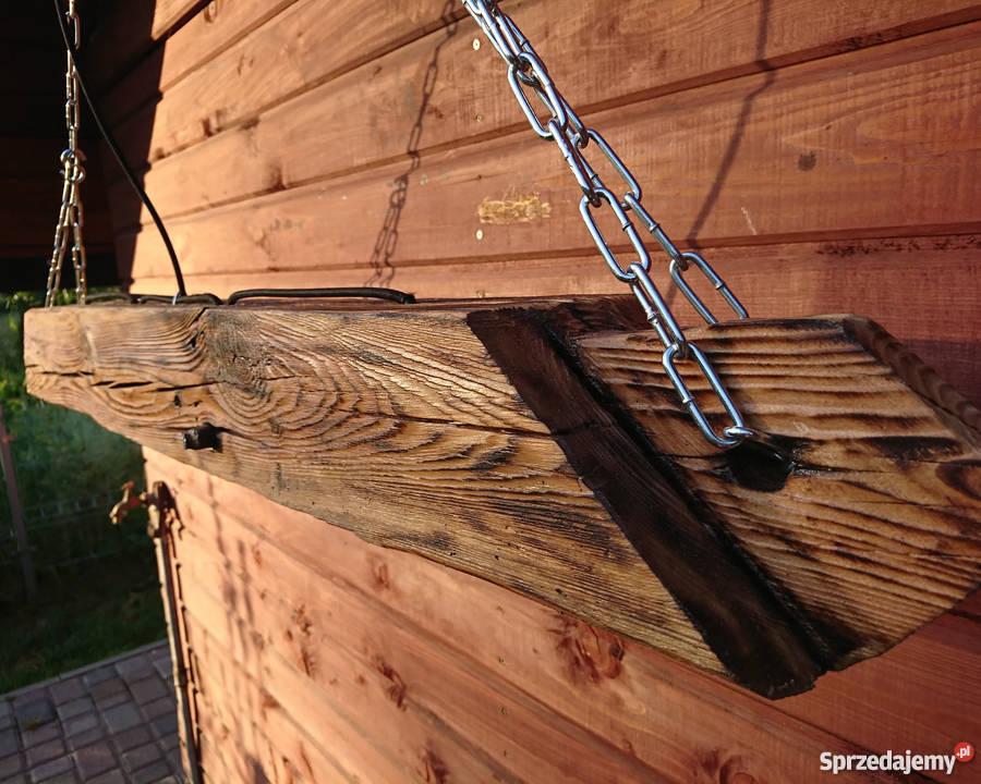 Lampa wisząca Belka drewniana LOFT VINTAGE Szczecin