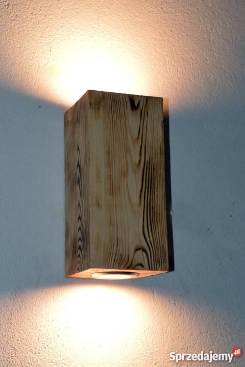 Kinkiet belka drewniana LED VINTAGE LOFT zachodniopomorskie Szczecin