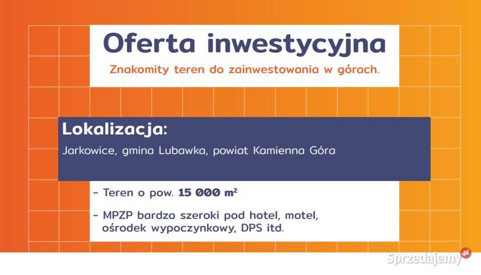 Działka pod inwestycje Jarkowice 9600 m2 PUM - 970 tys