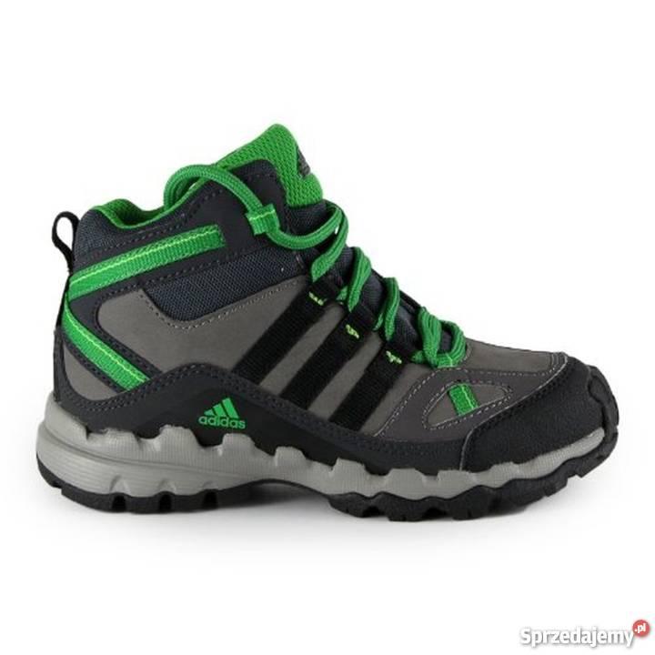 ceny detaliczne podgląd przed Sprzedaż ADIDAS Ax 1 Mid Lea - skórzane buty na jesień i zimę, r.31