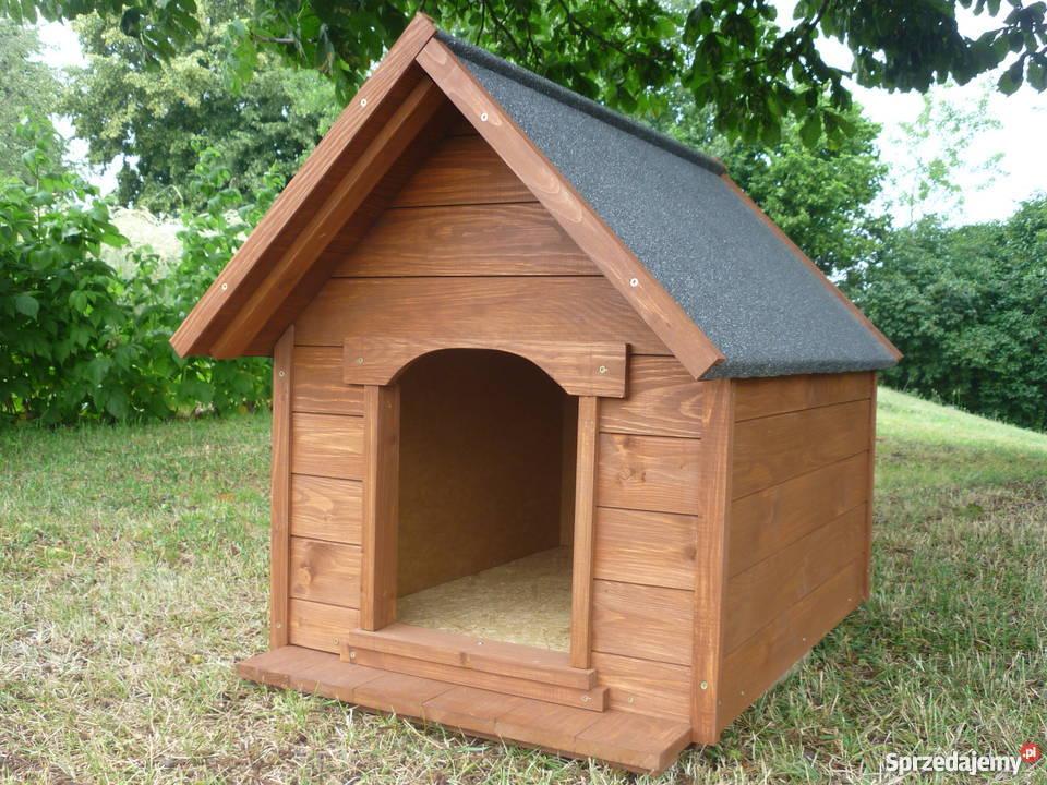 Buda drewniana dla średniego psa Cała ocieplana! Producent ...