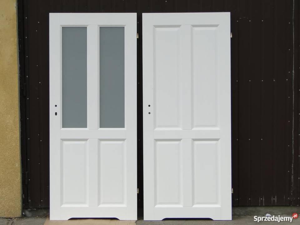 Drzwi Drewniane Bezseczne Kolor Bialy Grzybno Sprzedajemy Pl