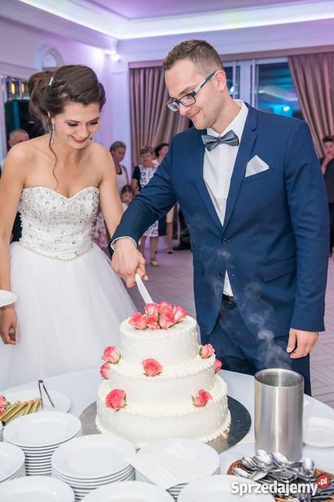 Suknia ślubna Wyszywana Kamieniami 1200 Zł Do Negocjacji Ustroń