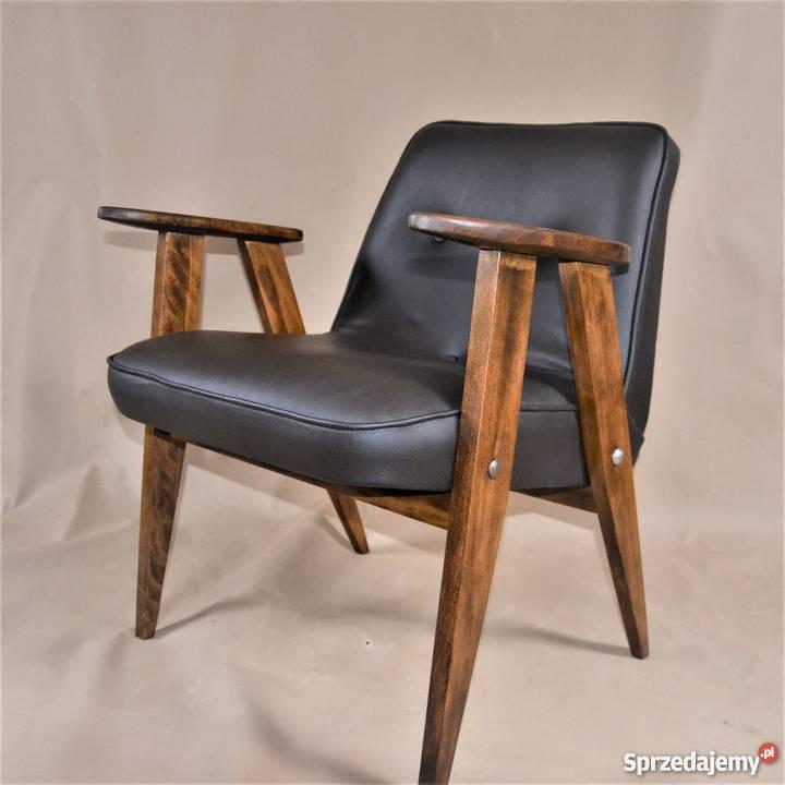 Fotel Chierowskiego Skóra Design Lata 60te Po Renowacji