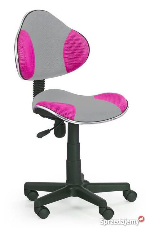Krzesło obrotowe dla dziewczynki różowe z szarym FLASH Q G2