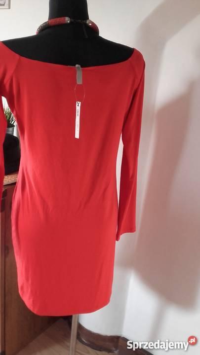 czerwona sukienka Asos długi rękaw Rozmiar 40(L) Spódnice i sukienki Sosnowiec sprzedam