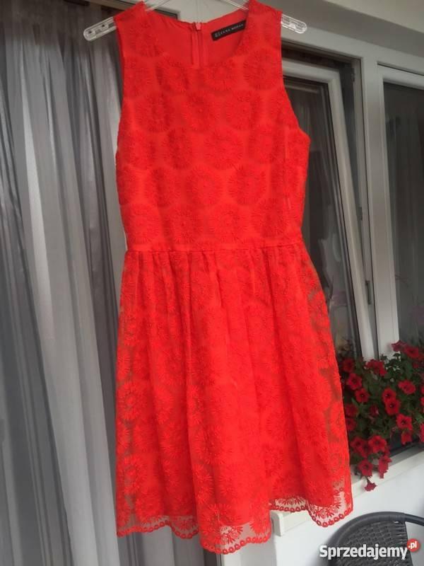 czerwone sukienki wesele zara