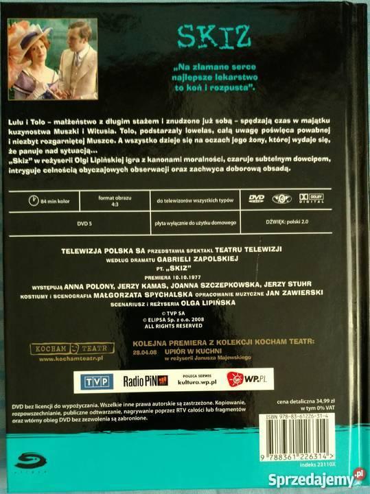 ZAPOLSKA Skiz OLGA LIPIŃSKA POLONY książka DVD Warszawa